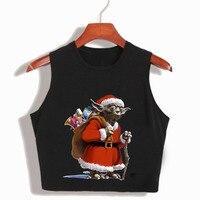 Funny T Shirts Star Wars Christmas Santa Claus Women S Crop Top 2017 Summer Fashion Harajuku
