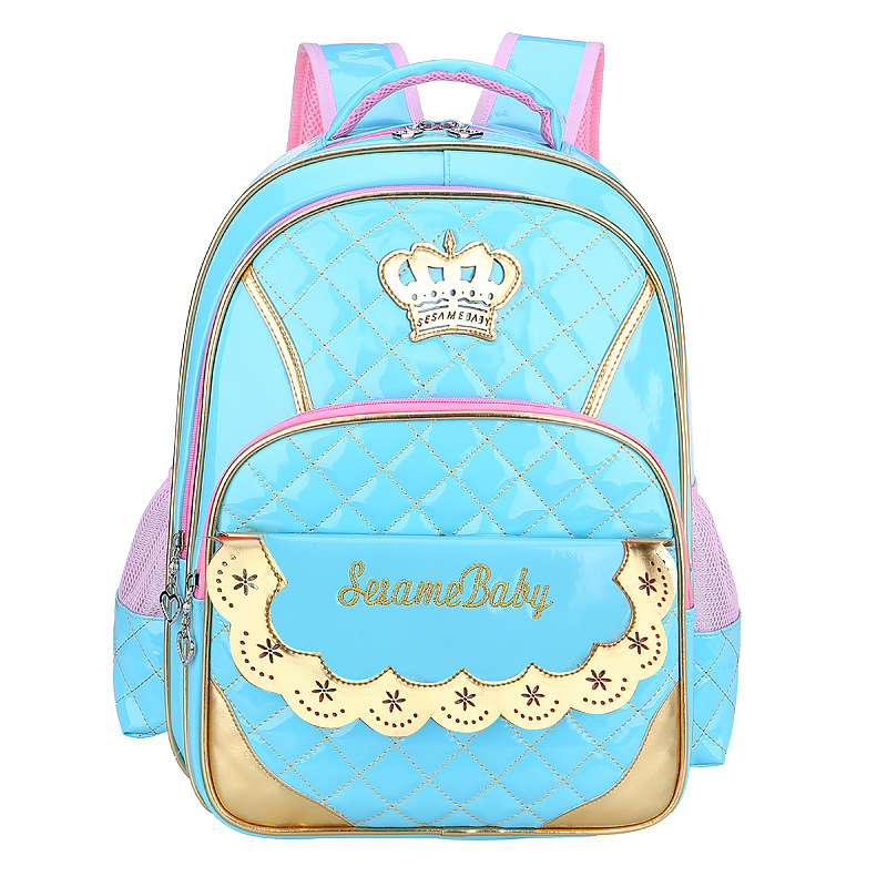 2018 Children School Bags for Girls Crown Backpack Princess schoolbag Waterproof Kids Backpacks schoolbags mochila infantil