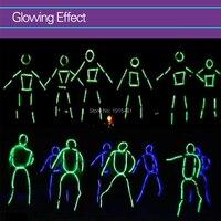 Neon Led Strip Matchstick Men Creative Suit Diy Mo EL Wire Diy Model Decor Light Up