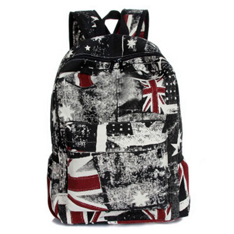 Fashion Women Printing Backpack Rice Flag Mochila School Bags for Teenagers Big Capacity Canvas Backpacks Free Drop Shipping fashion free shipping just hype pattern back to school backpack mochila batoh plecak