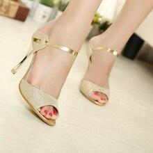 Lakeshi женские босоножки золотистого и серебристого цвета с ремешком на щиколотке женские босоножки на высоком каблуке Красивые женские сандалии Летняя обувь