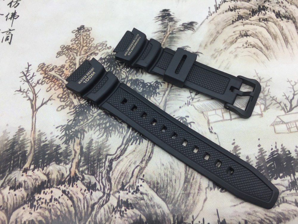 ON SALE Original Watchband black silicone rubber bracelet for Casio SGW-400H watches accessories elizabeth and james кольцо