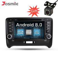Android 8.0 Car GPS Navigation For AUDI TT 2006 2012 Radio Stereo Mirror link WIFI Canbus OBD2 Multimedia DVD Player Octa Core