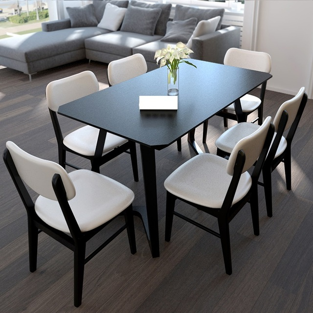 Free shipping to Russia: Dining table for 4, 6 and 8 persons, Modern stylish solid square table
