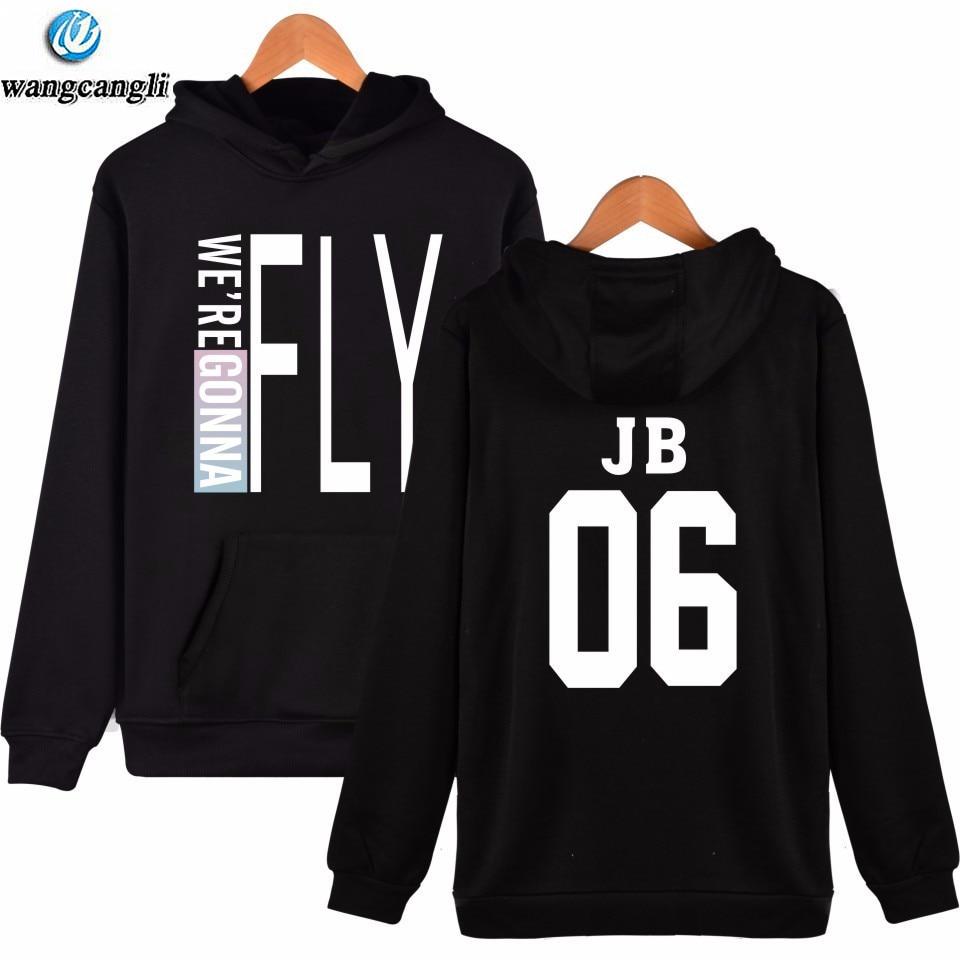 Kpop Got7 FLY Plus Size Hoodies Sweatshirt Women/men 2018 new harajuku moletom Pullover Tracksuit Hoodie Sudaderas 4xl