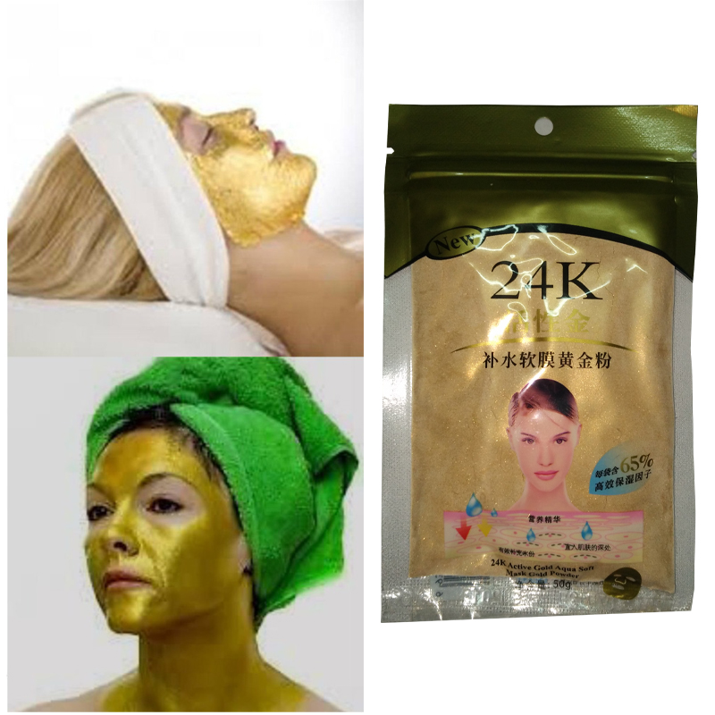 24K Gold Collagen Face Mask Powder Anti-Aging Anti-Wrinkle Luxury Spa Treatment Moisturizing Whitening
