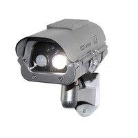 Solar Simulation Camera Dummy Fake Surveillance CCTV Security with flashlight And Motion Detector FC