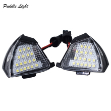 цены 2x LED Under Side Mirror Light Puddle Lamp for VW Golf 5 MK5 MKV R36 Passat b6 Jetta Eos Bulb Replacement