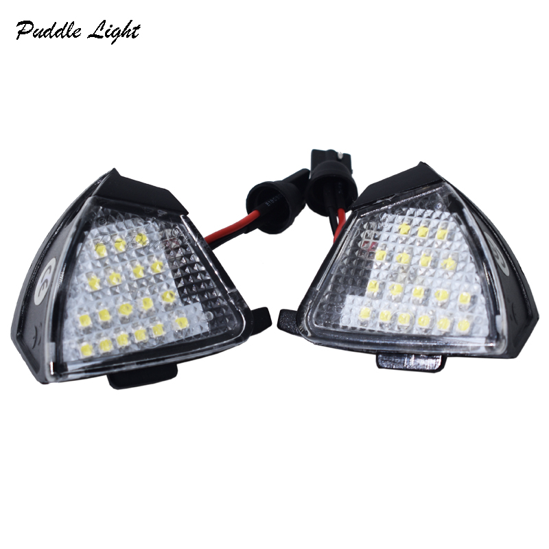 2x LED Under Side Mirror Light Puddle Lamp for VW Golf 5 MK5 MKV R36 Passat b6 Jetta Eos Bulb Replacement