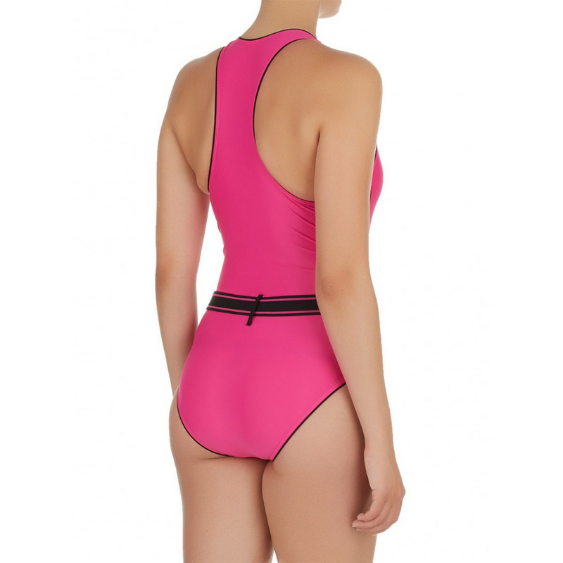 b90d5bc322928 Winmax Top selling high quality black/fuchsia sporty one piece style lady  swimwear,tummy and slimming women swimsuit-in Body Suits from Sports ...