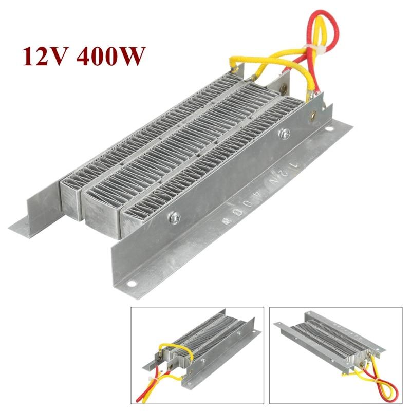 12 V 400 Watt Ptc-keramik-lufterhitzer Elektrische heizung Thermostat Isolierung Heizelement Kit Schnell Sicherheit Silbrig
