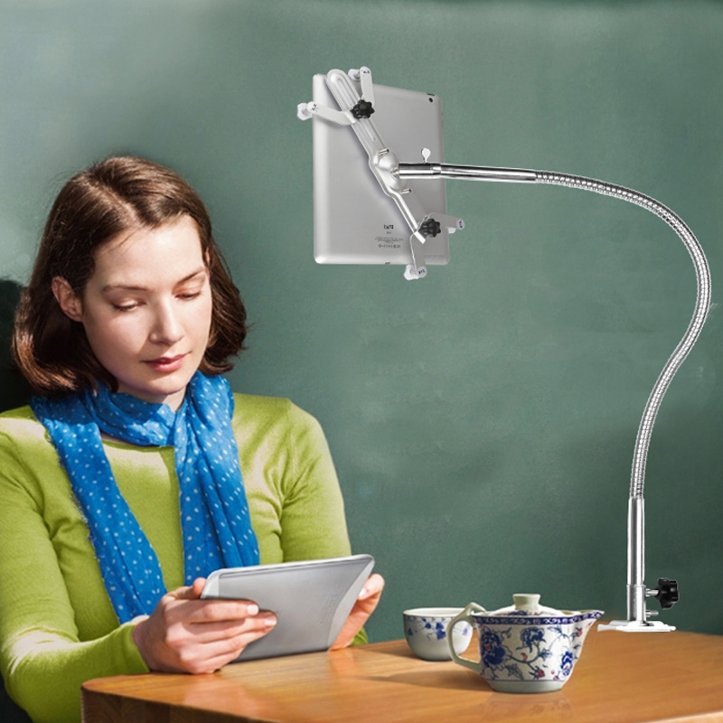Support universel pour tablette à col de cygne Flexible à Long bras support à Clip rotatif à 360 degrés pour Ipad Mini, Air, pour iphone 6plus