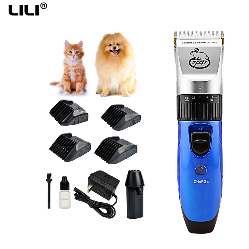 110-240V LILI Professional pet hair cutter Electric cat Pet trimmer Shaver pet grooming haircut machines hair clipper for dogs professional 24w pet dog hair trimmer ceramic head clipper animal electric cat grooming hair cutter shaver razor w comb brush