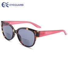 EYEGUARD נשים דו מוקדי משקפי שמש שמש קוראי UV 400 הגנה חיצוני קריאה ומרחק צפייה אופנה ליידי קוראי עיצוב