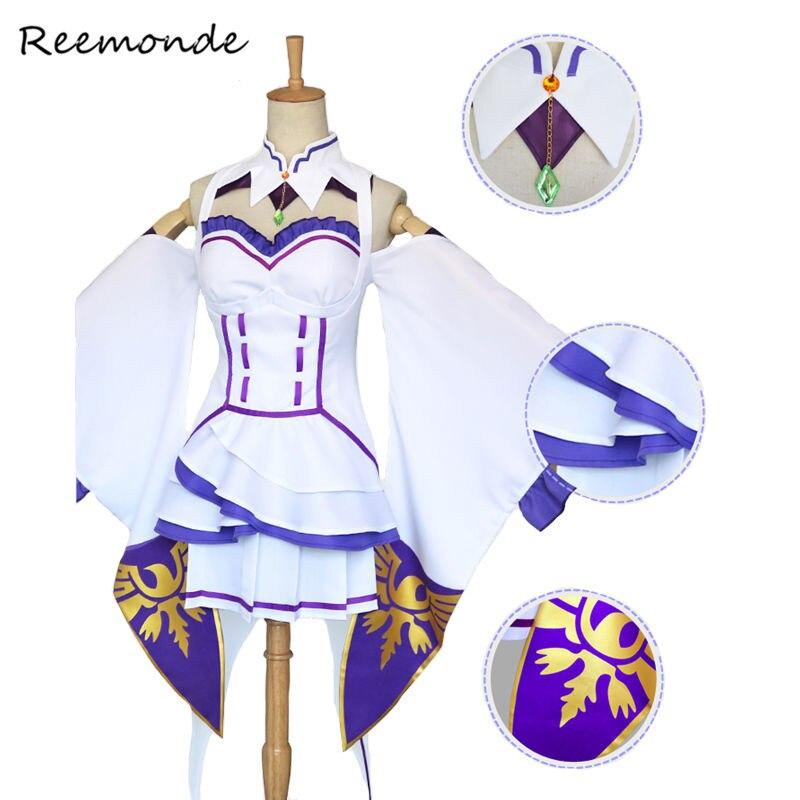 Anime Re Zero Kara Hajimeru Isekai Seikatsu Cosplay Costumes Rem Ram Emilia Wig Cosplay In Women Girls Halloween Party Costume