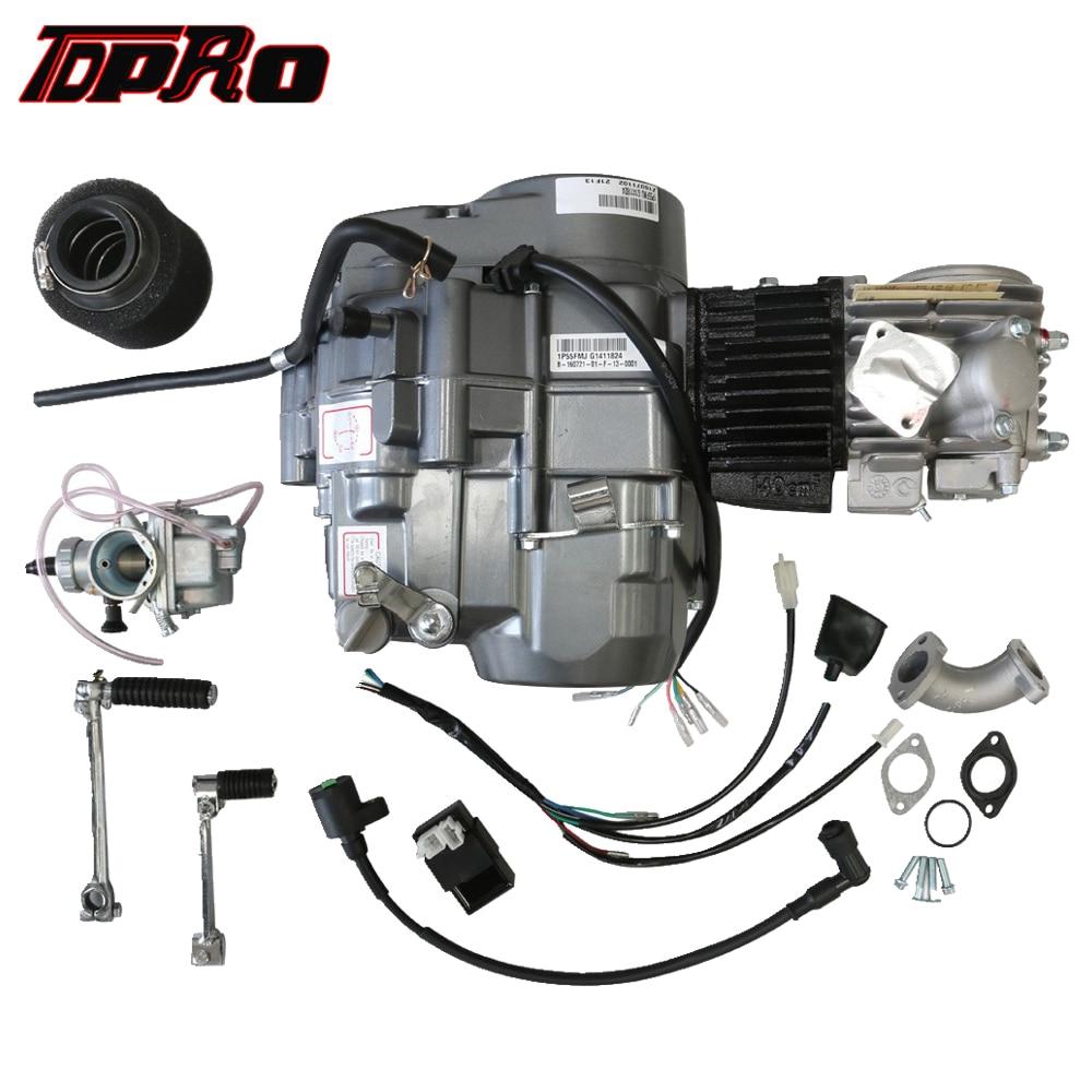 TDPRO Lifan 4 Corsa 140cc Motore di Avviamento del Motore Del Motociclo Dirt Pit Bike Motori di Avviamento + Radiatore Olio + tubo di Scarico + 45 millimetri Filtro Aria + Leva