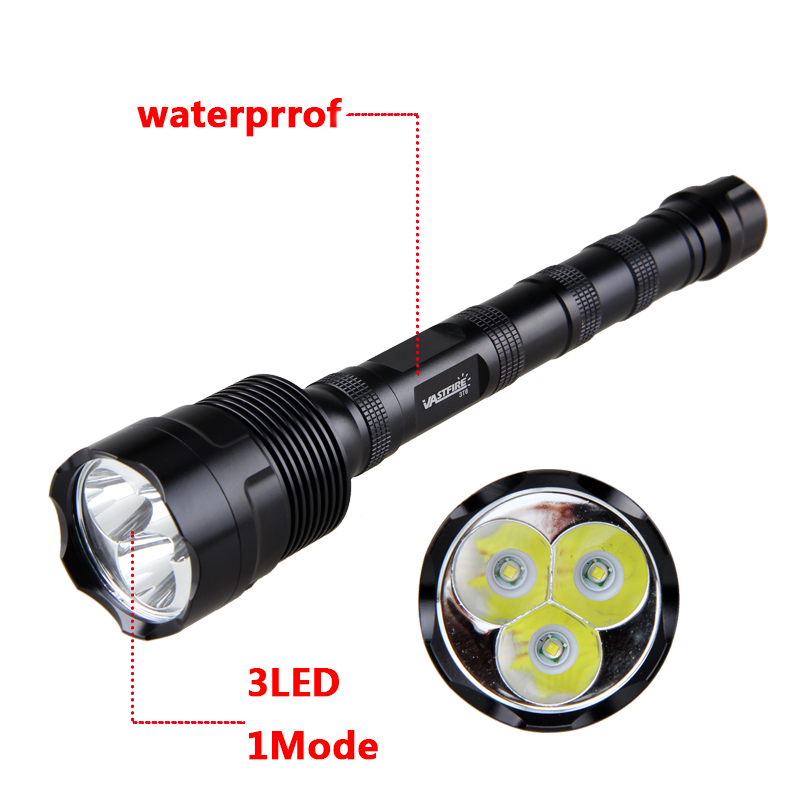 Купить с кэшбэком 6000 lumens Hunting Light High Powerful 3*T6 LED Tactical Flashlight+3*18650 Battery+Remote Pressure Switch+Scope Mount+Charger