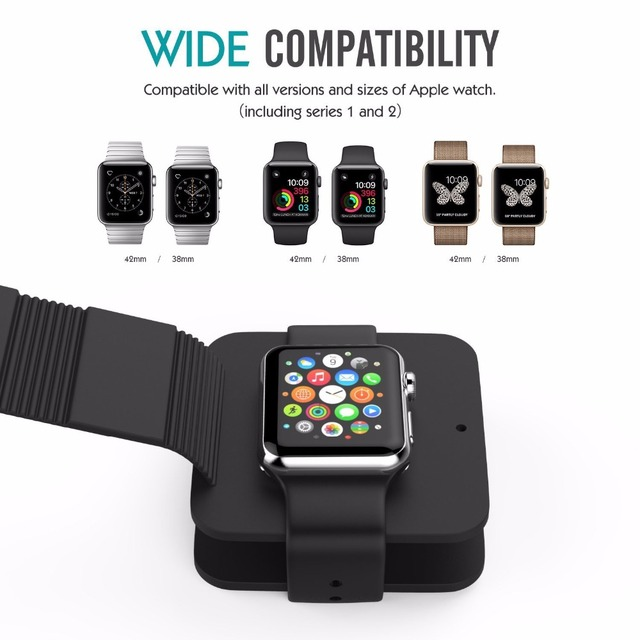 For Apple Watch 4 Charging Stand Charge Dock Holder Cable Bag for iWatch all 38mm/42mm and for Apple Watch 1 2 3 Band strap