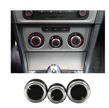 3pcs set aluminum alloy car air conditioning conditioner knob