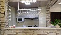 Hanging glass frame. Wine rack. The bar glass. Upside down glass frame