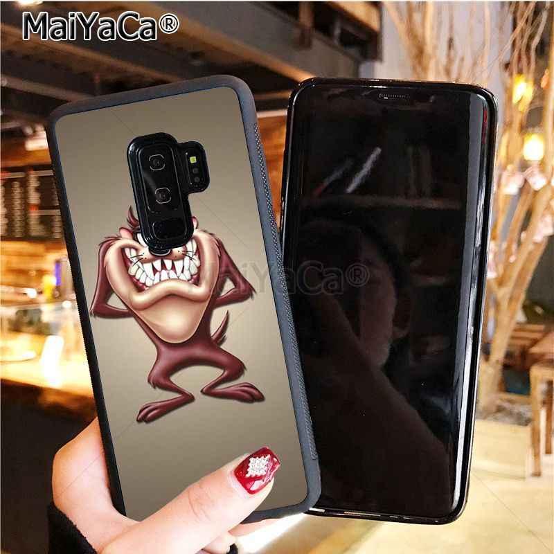 MaiYaCa Looney Tunes Tasmanian Teufel Taz balck silikon weichen tpu Fall für Samsung Galaxy S10 Plus S10E Lite s6 s7 s8plus s9plus