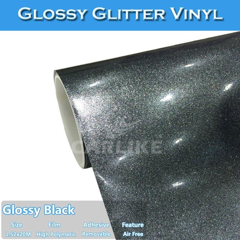 Multi-function Adhesive High Gloss Black Vinyl Tape DIY Wrap Film Bubble Free
