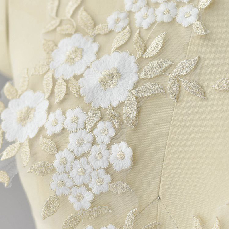 10 Pieces Embroidered Applique Lace Fabric Polyester Venice Lace Patches Laces Sewing Craft Embroidery Clothes DIY Accessories in Lace from Home Garden