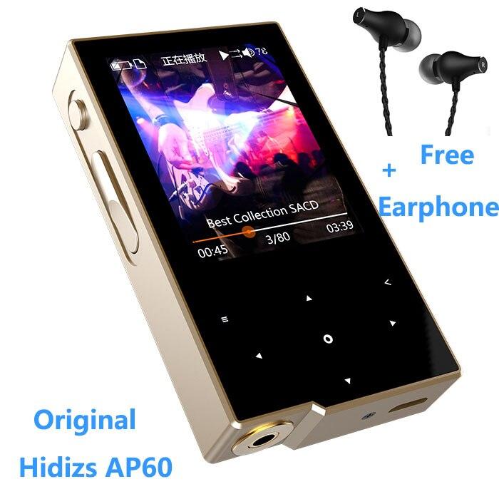 Original Hidizs AP60 DSD HiFi Lossless Pocket Bluetooth 4.0 Apt-x Music Player+Free high qulaity VJJB K1 Earphone ( 4USD coupon) episode es ap 24x24 gray 60 x 60 см