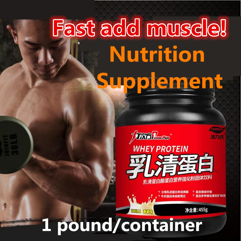 Original Whey protein mixed powder,fitness supplement,Fast add muscle,thin people gain weight,High Quality with Free shipping 400gram nature supplement high quality raspberry extract 20 1 powder s eating food supplements free shipping page 6