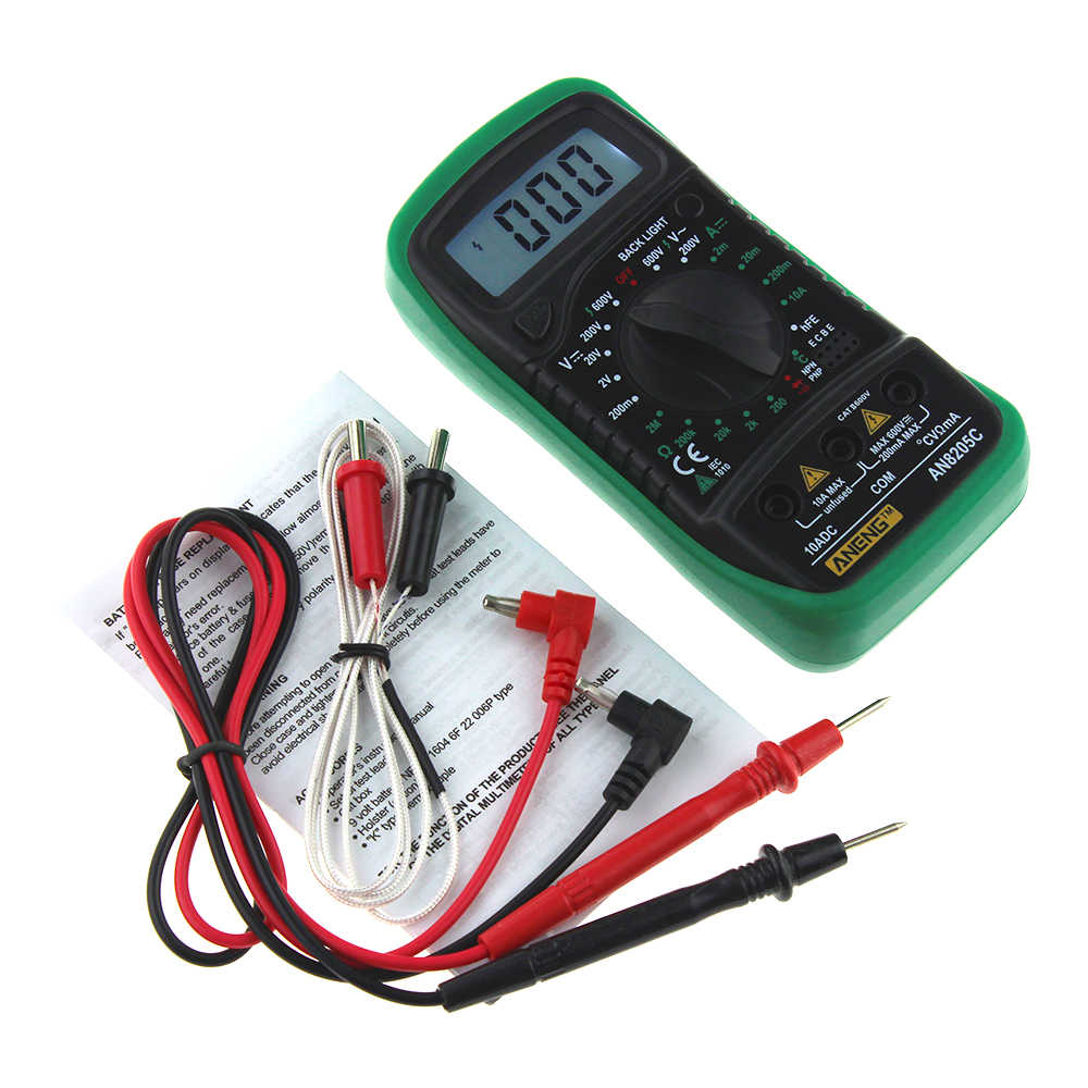 Detail Feedback Questions About Aneng An8205c Digital Multimeter Ac Lcd Dc Voltmeter Ammeter Ohm Circuit Checker Voltage Meter Resistance Temperature Tester