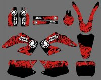 0178 Red Black NEW STYLE TEAM DECALS STICKERS GraphicS For CR125 CR250 2000 2001