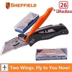 شيفيلد للطي سكّين متعدّد الاستخدامات متعددة الوظائف جيب التخييم سكين الثقيلة مع 26 شفرات سكين سكين ورقة سكين القاطع أداة