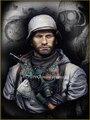 Sem pintura Kit 1/10 Motociclista Oriente Frente busto Histórica DA SEGUNDA GUERRA MUNDIAL Alemão DA SEGUNDA GUERRA MUNDIAL Figura de Resina Kit Frete Grátis