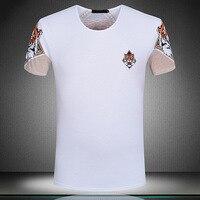 New 19ss Men Striped Tiger head T Shirts kanye T Shirt Hip Hop Skateboard Street Cotton T Shirts Tee Top S XXXL Plug #F69