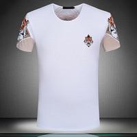New 2019 Men Striped Tiger head T Shirts kanye T Shirt Hip Hop Skateboard Street Cotton T Shirts Tee Top S XXXL Plug #F69
