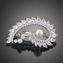 Classic Female top quality AAA Zircon stone hair accessories hairpins crystal white gold hair jewelry F00063 серьги висячие e1269 aaa stone jewelry