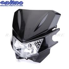 Изменение KAWASAKI KLX110 klx ktm внедорожных мотоциклов лампы фар H4 головного света мини Байк аксессуары