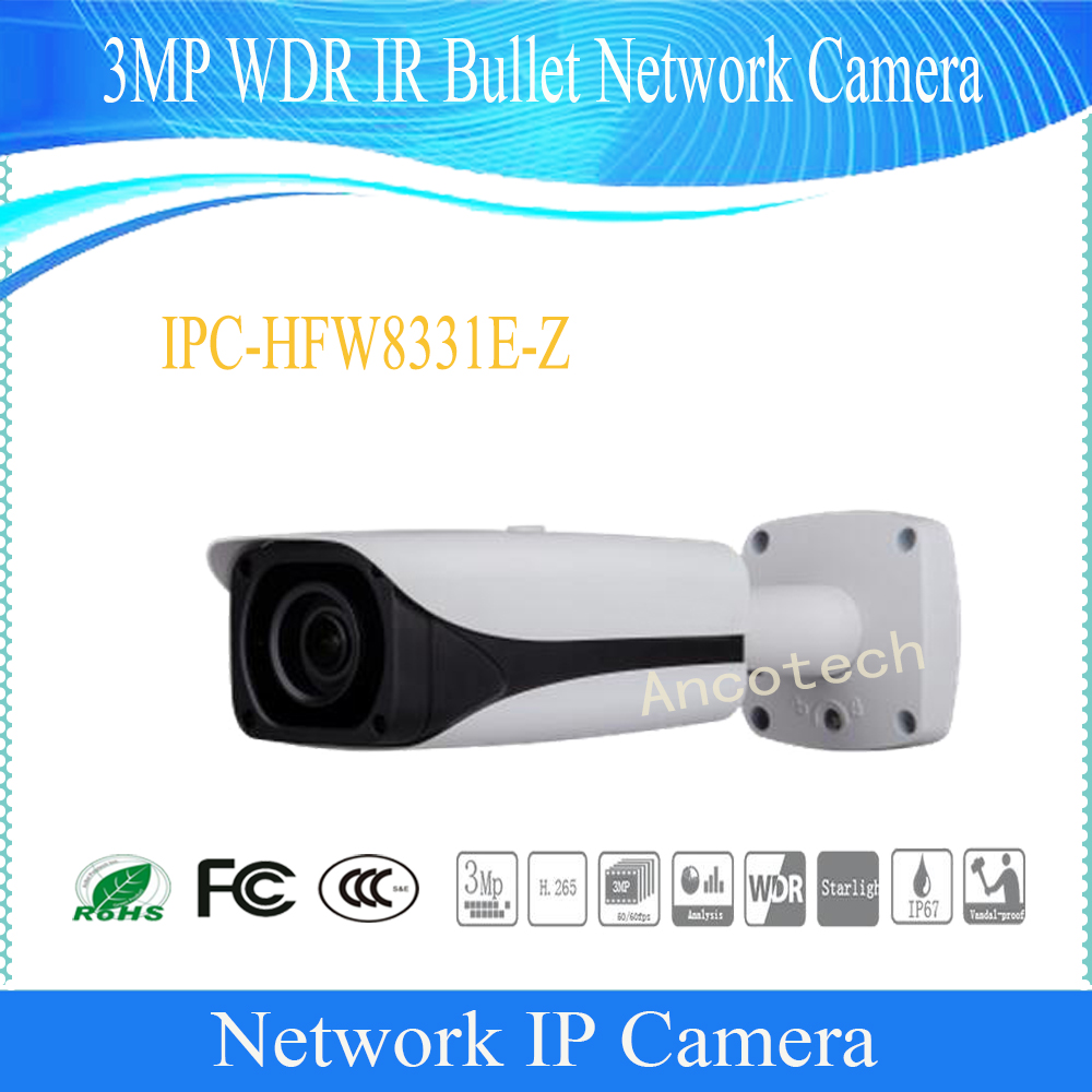 Free Shipping DAHUA CCTV 3MP Full HD WDR Smart Network Motorized IR Camera with POE without Logo IPC-HFW8331E-Z dahua 3mp motorized ip camera ipc hfw2320r zs 2 7mm 12mm new model replace for ipc hfw2300r z cctv camera free shipping