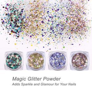 Image 4 - Makartt Nail equipo de diamante de imitación pegamento de diamantes de imitación de uñas profesional Gel UV/LED con gemas de Arte de uñas piedras, lentejuelas de brillo, cepillo 2 en 1