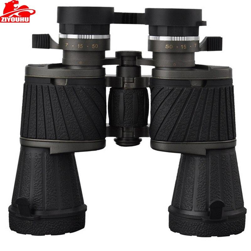 ZIYOUHU 10x50 jumelles télescope militaire Bak4 jumelle Zoom professionnel balle chasse de haute qualité puissant livraison gratuite