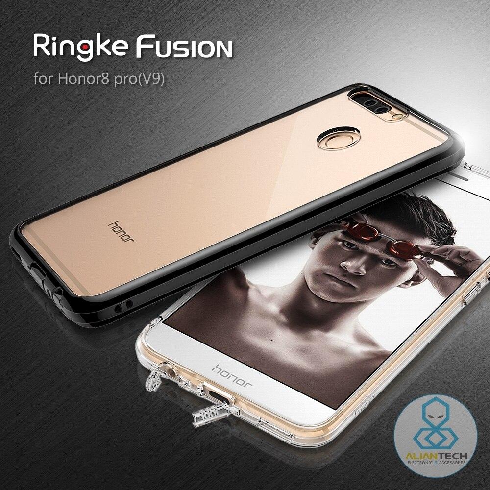 imágenes para RINGKE FUSIÓN Huawei Honor 8 Pro/V9 con Clear Back Cover + Enchufe Del Polvo Premium Híbrido Casos para Huawei Honor A Prueba de Caída V9