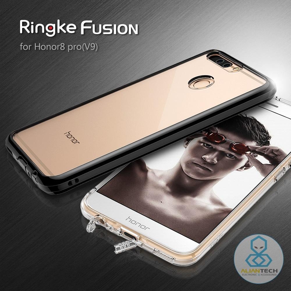 bilder für RINGKE FUSION Huawei Honor 8 Pro/V9 mit Klar rückseitige Abdeckung + Staubstecker Premium Hybrid Tropfen Beweis Fällen für Huawei Ehre V9