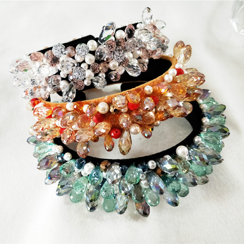 Luxury Sparkly Crystal Fashional Modern Style Crown Hairbands for Girls Headwear Hair Accessories for Women