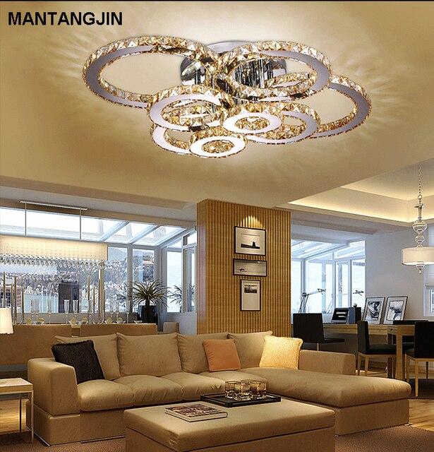 Modern Led Crystal Ceiling Lights For Living Room Luminarias Para Sala Plafon Lamp Fixture Bedroom Lamparas De Techo
