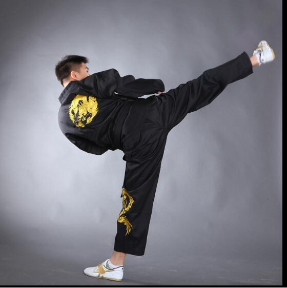 High Quality taekwondo Dobok Black Karate TKD uniforms Embroidery Cotton Taekwondo suit Kung fu wushu outfit for adult children j calicu taekwondo dobok adults children male taekwondo poomsae clothes cool cotton striped genuine for have dan persons karate