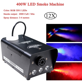 цена на 400W RGB Wireless Remote Control Fog Machine Pump DJ Disco Smoke Machine Professional For Stage Perform Party Bar Light Effect