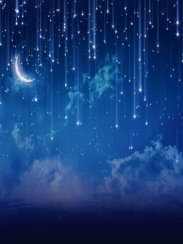 Customize washable wrinkle free moon star blue night photography backdrops for newborn photo studio portrait backgrounds HG-310 купить