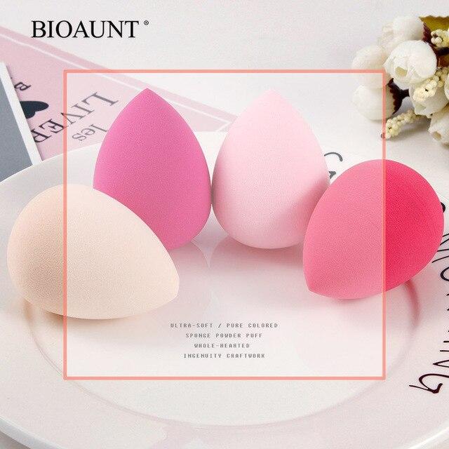 Bioaunt新 6 色のプロ顔ファンデーションスポンジパウダーパフドロップ形の円滑な化粧パフビューティーメイクアシスタントツール