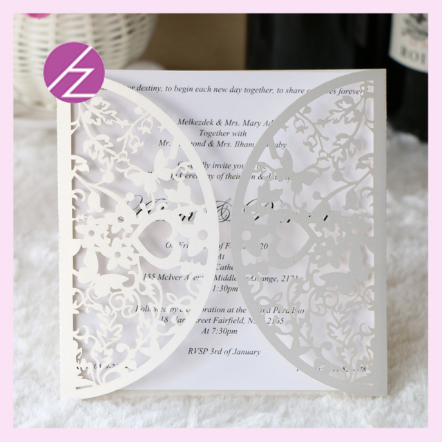 30pcs Lot 2017 Hot Sell Laser Cut Paper Crafts Love Heart Cards