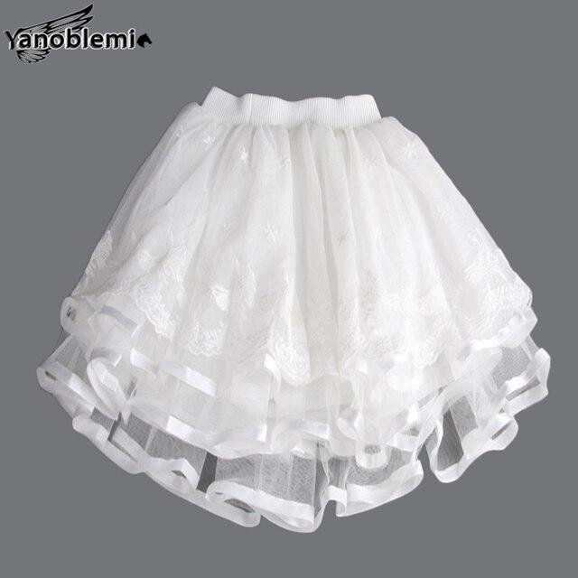 New Fashion Girls Brand Tutu Skirts Baby Childrens  Lace Net Yarn Princess Pettiskirts Kids Dancing Party Performances Clothing
